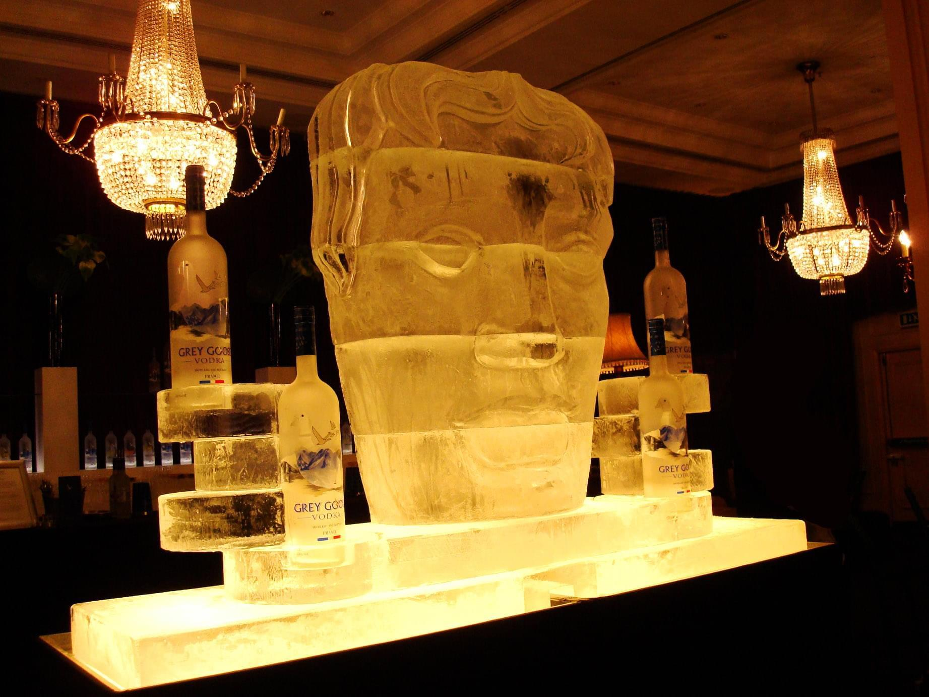 Ice, Sculpture, Face, Cube