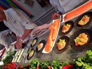 Seafood, Block, Food Station