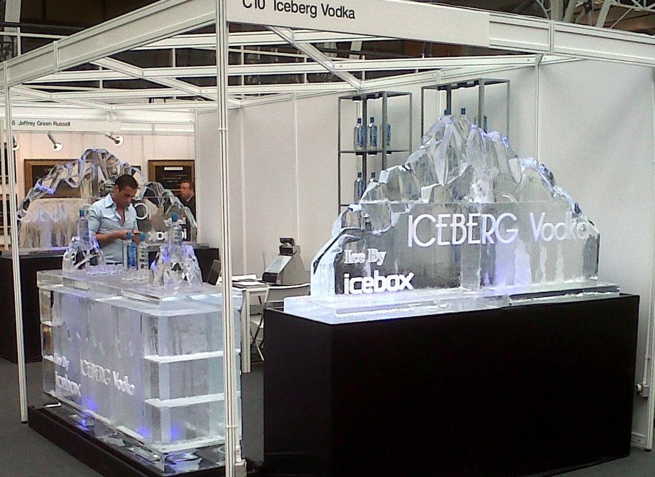 Exhibition Stand Logo : Ice bar logo iceberg vodka exhibition stand uk