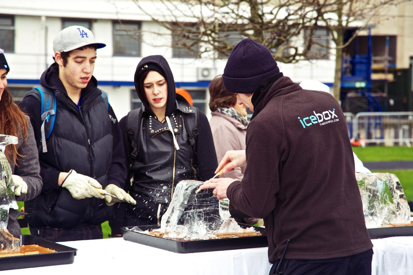 Teambuilding, Ice, Carving