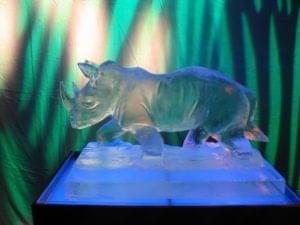 Rhino Ice Sculpture