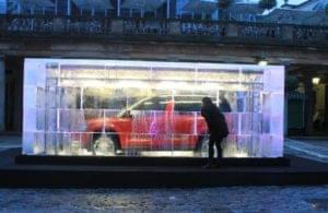Car, Ice, Cube, Igloo