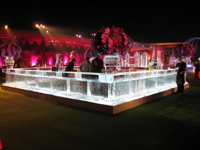 Wedding, Ice, Bar