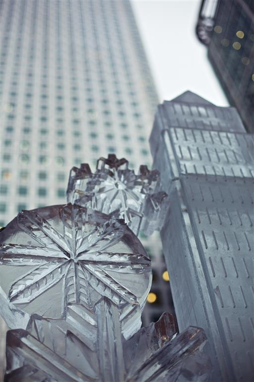 Building, Canary Wharf, Snowflake