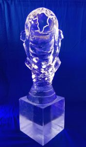 World Cup Trophy Ice Sculpture