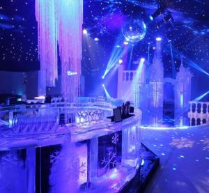 Frozen Themed Round Ice Bar
