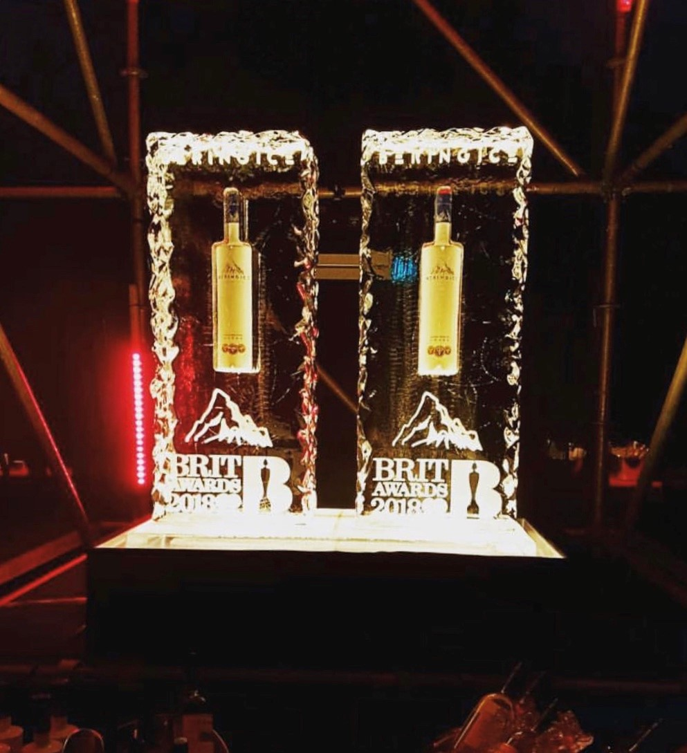 Brit Awards Ice Pillars for BeringIce