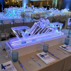 table centre ice sculpture