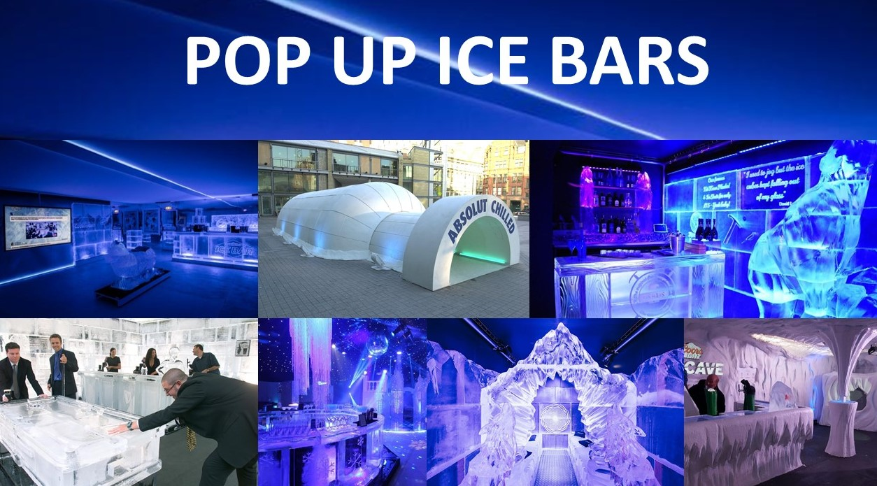 Ice Bar Hire, Pop up