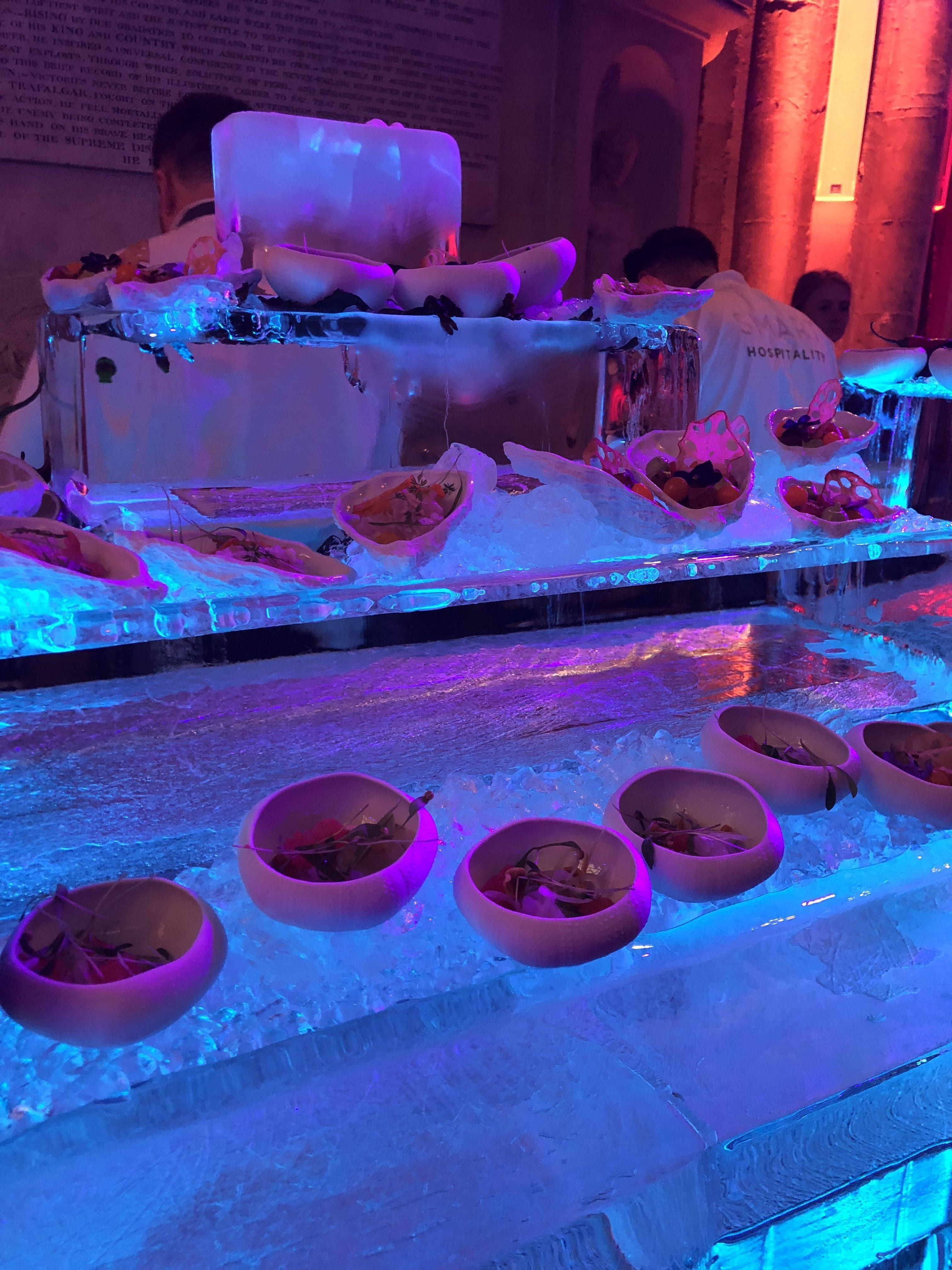 ice seafood station