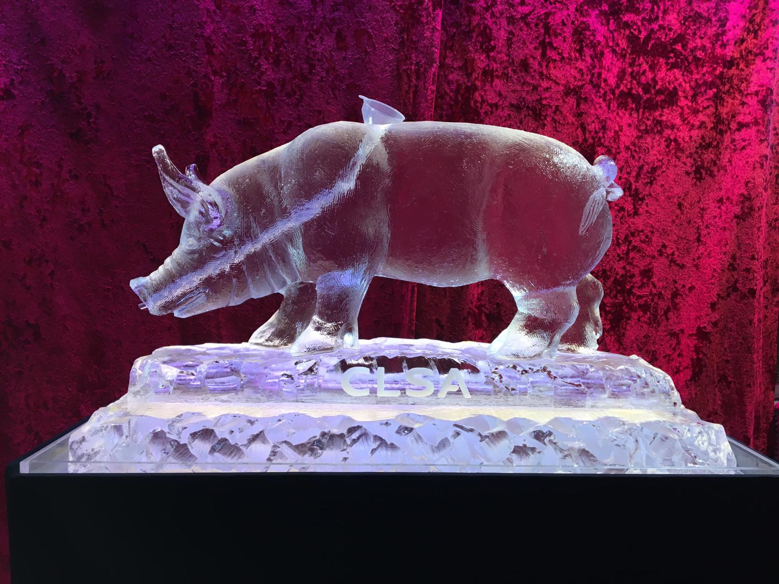 Year of the Pig Ice Sculpture