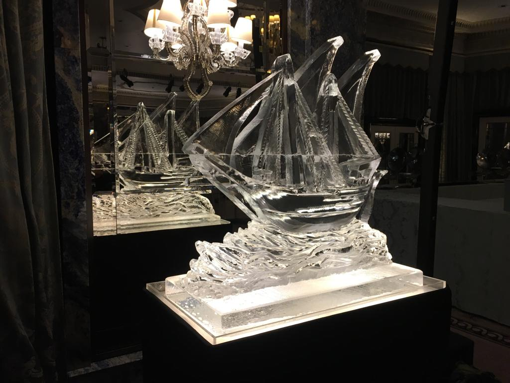 Galleon Ice Sculpture
