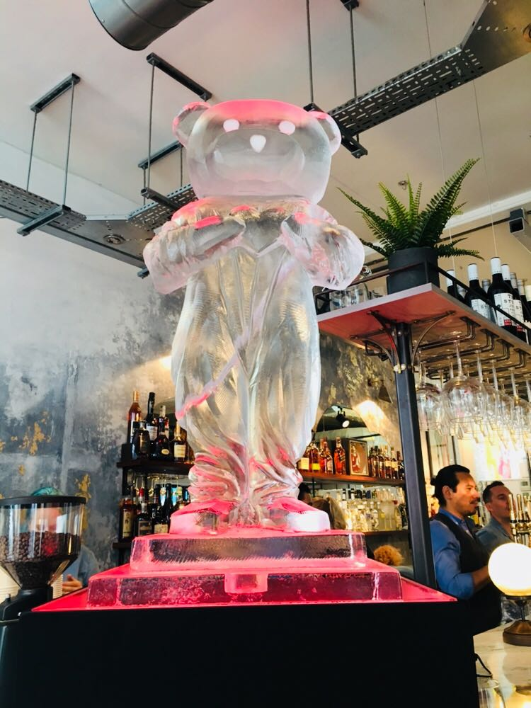 The Pink Bear Ice Sculpture - Paul Robinson