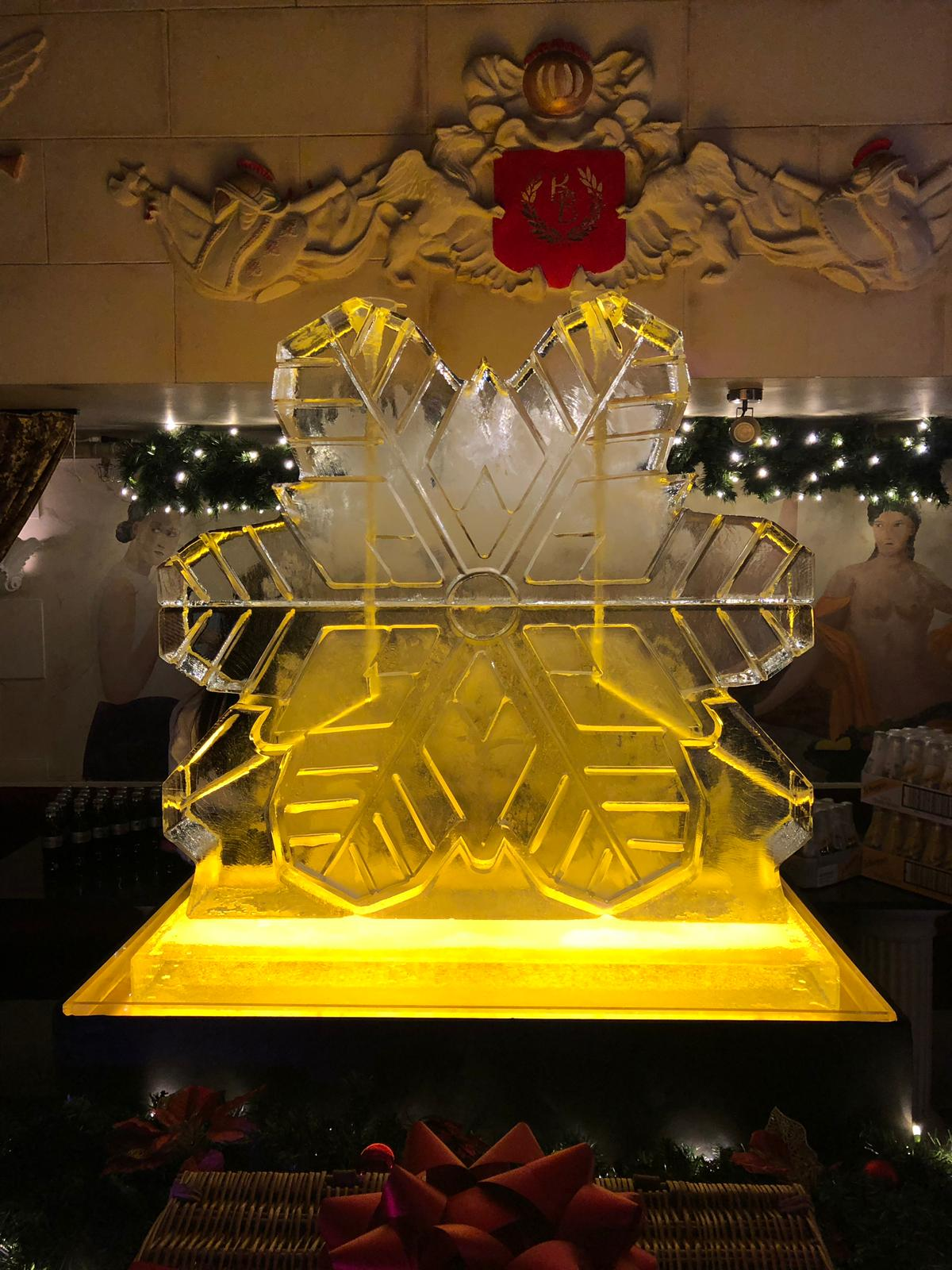 1m wide x 1m high snowflake double luge