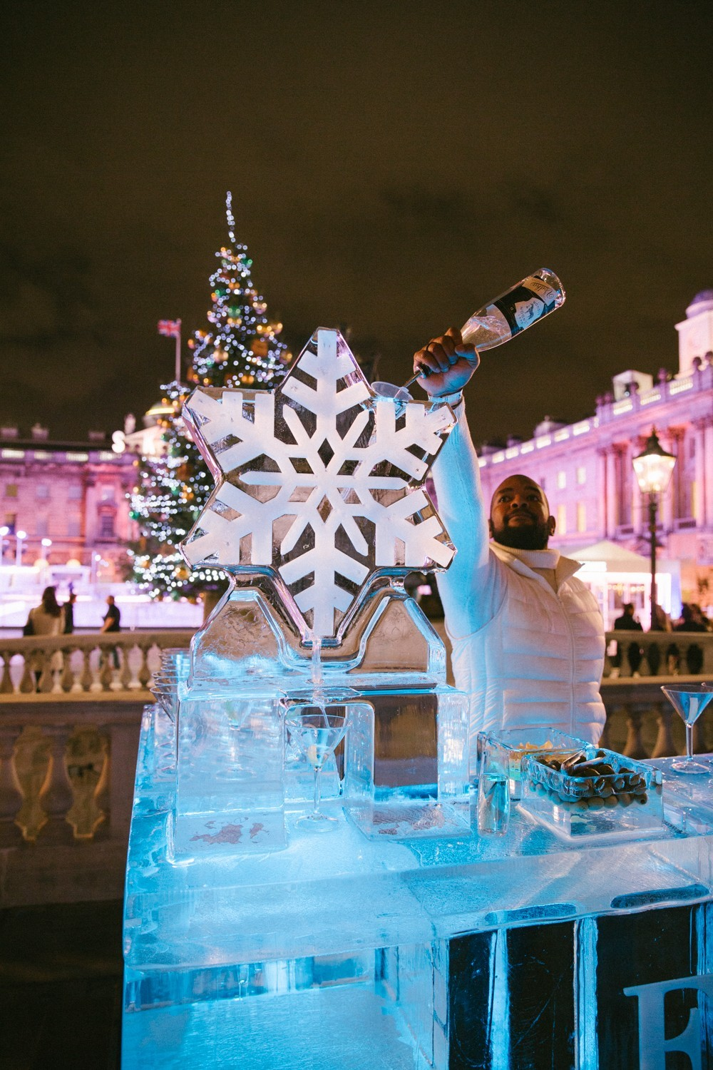 Snowflake Vodka Luge - Somerset House