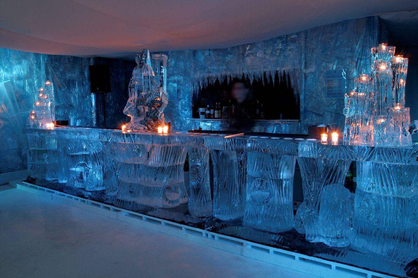 Tree Bar, with ice palace & candle holders